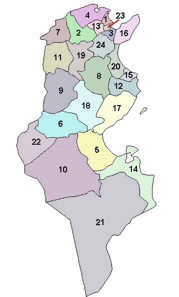 تونس مدينة المهدية Tunisia_governorates
