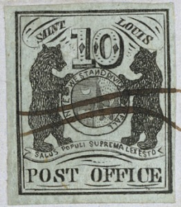 Provisional stamp issued in St. Louis, Missouri