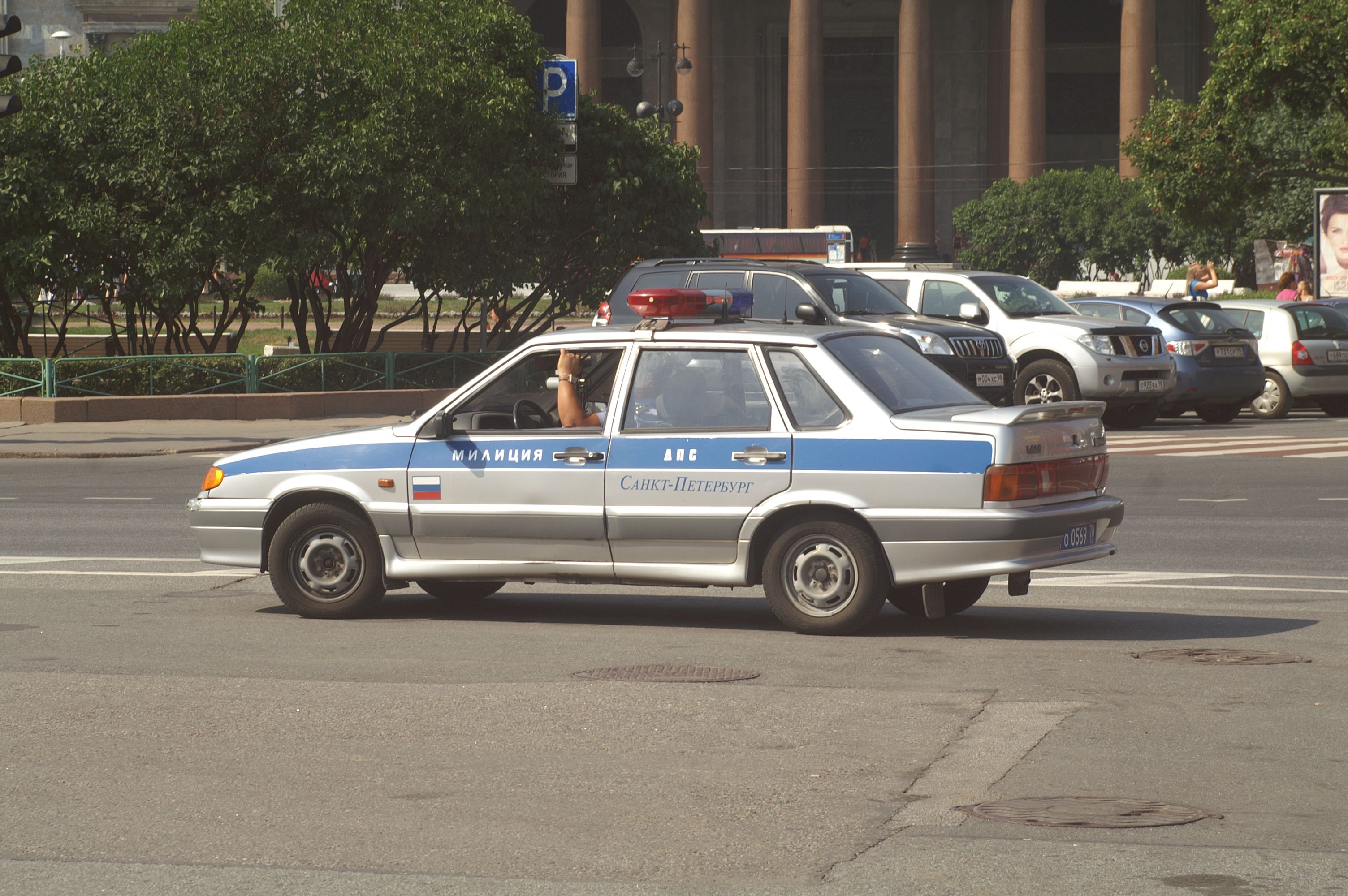 File:VAZ-2115 as a Militsyja car in St.Petersburg.jpg