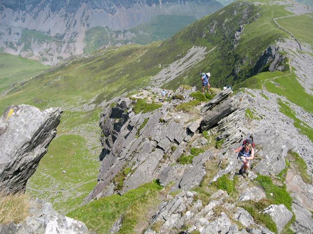 Walking up the Ridge - geograph.org.uk - 690259