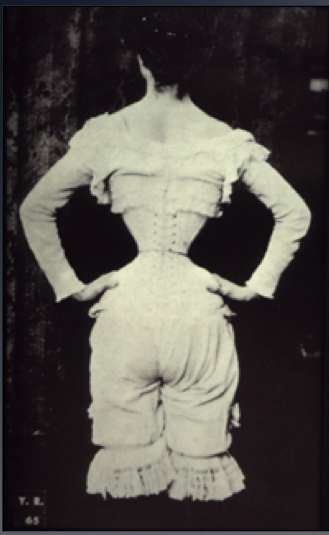 A woman wearing a tight-laced corset, 1890 Wasp waist.png