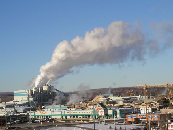 Whitecourt (AB) Canada  city photos gallery : Whitecourt, AB Mill over town Wikipedia, the free encyclopedia