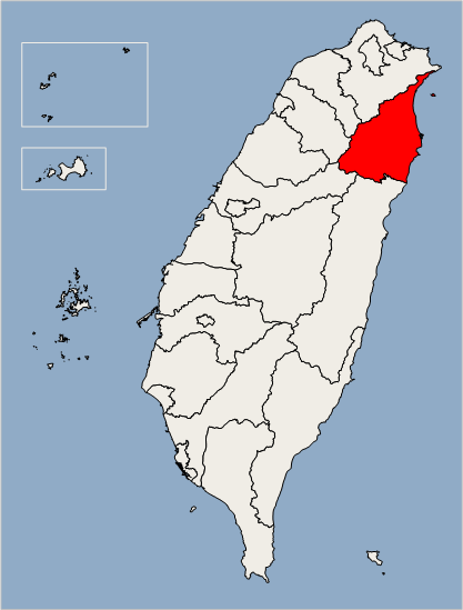 Yilan County Location Map