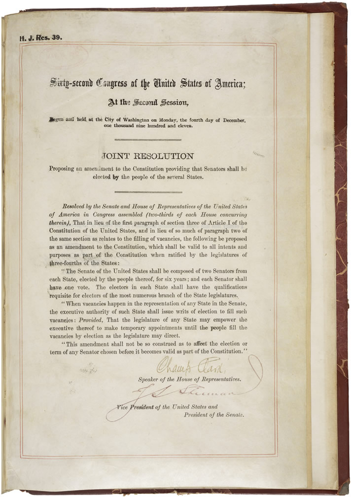 File17th Amendment To The Us Constitution Direct Election Of