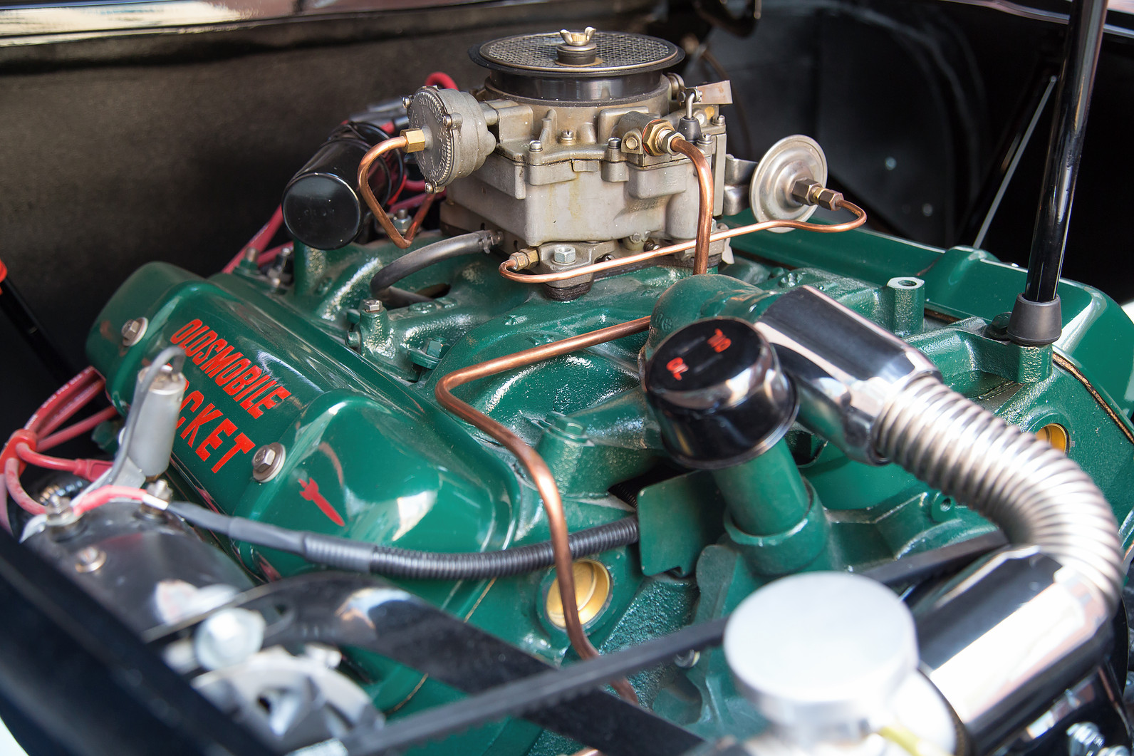 1956 Oldsmobile Rocket 88 Engine used in Batmobile.jpg