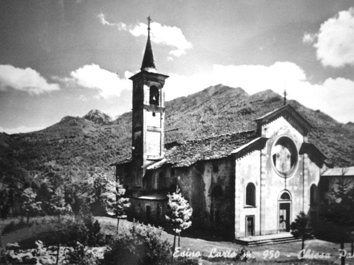La chiesa di San Vittore in una foto d'epoca dell'Archivio Pietro Pensa