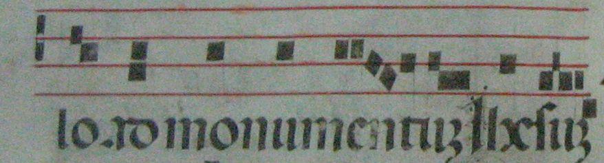 Partitura gregoriana en tetragrama