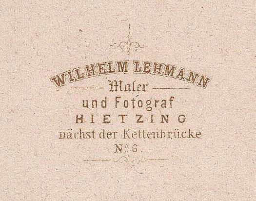 FileAdresse Wilhelm Lehmann Maler Und Fotograf Hietzing Nchst Der Kettenbrcke No 6