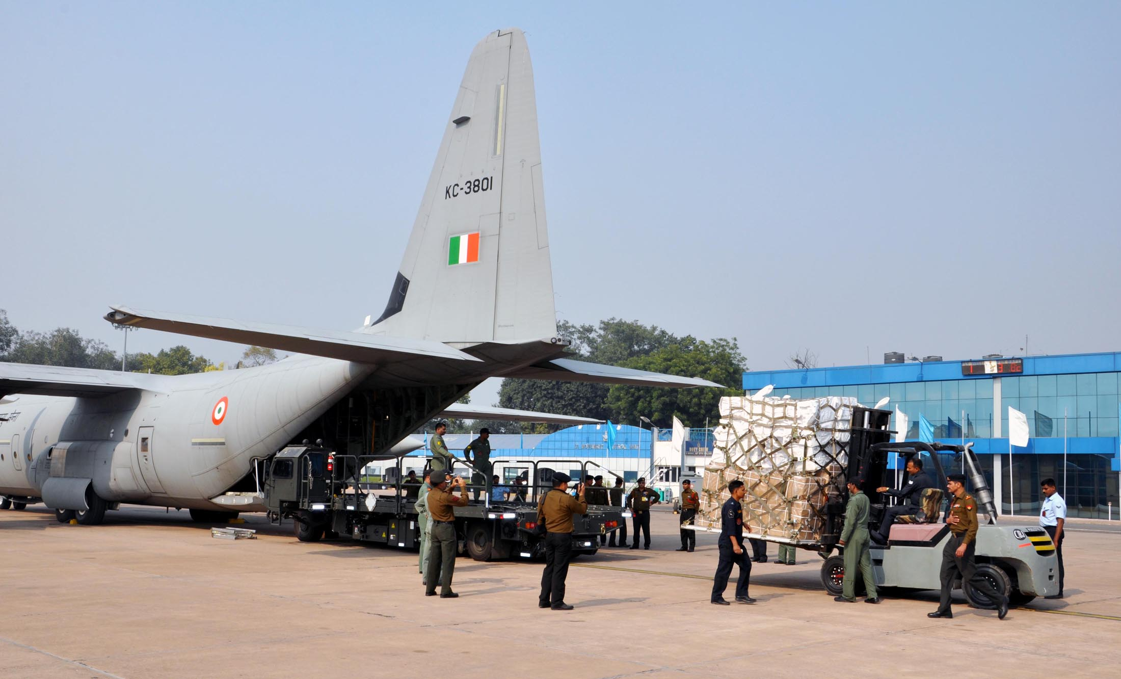 File An Indian Air Force C 130j Super Hercules Aircraft
