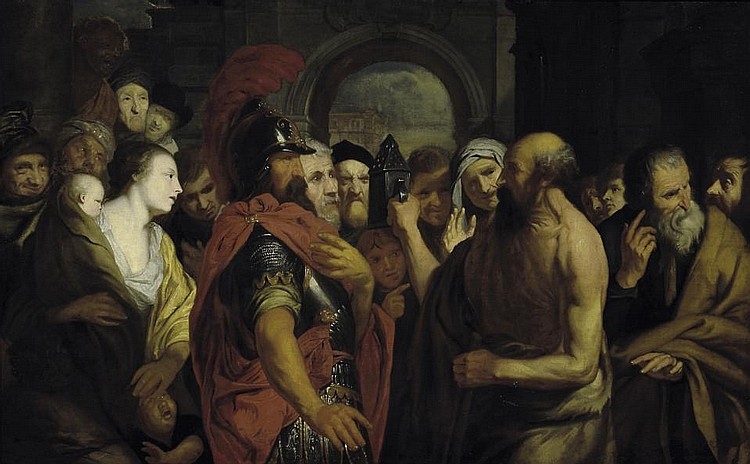 Anonymous Dutch - Diogenes and Alexander