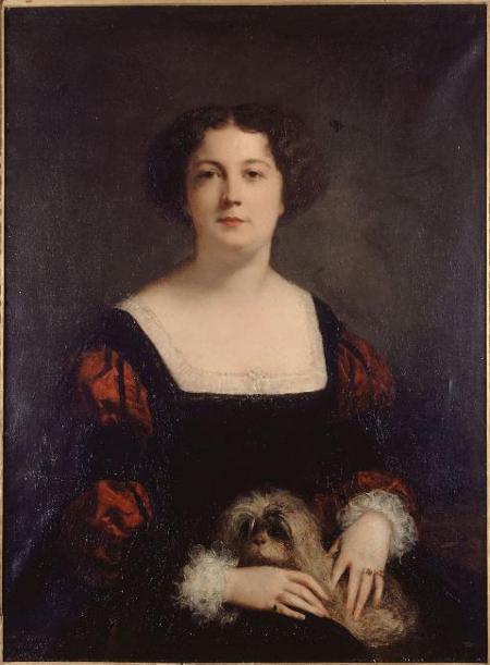 Г.Рикар. Дама с маленькой собачкой. Портрет А.Сабатье. 1850