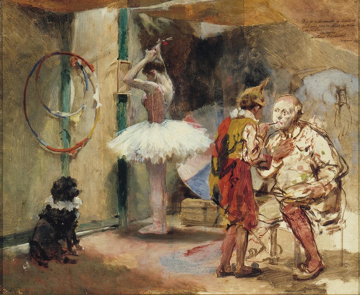 Zirkus um 1891, Gemälde von Arturo Michelena