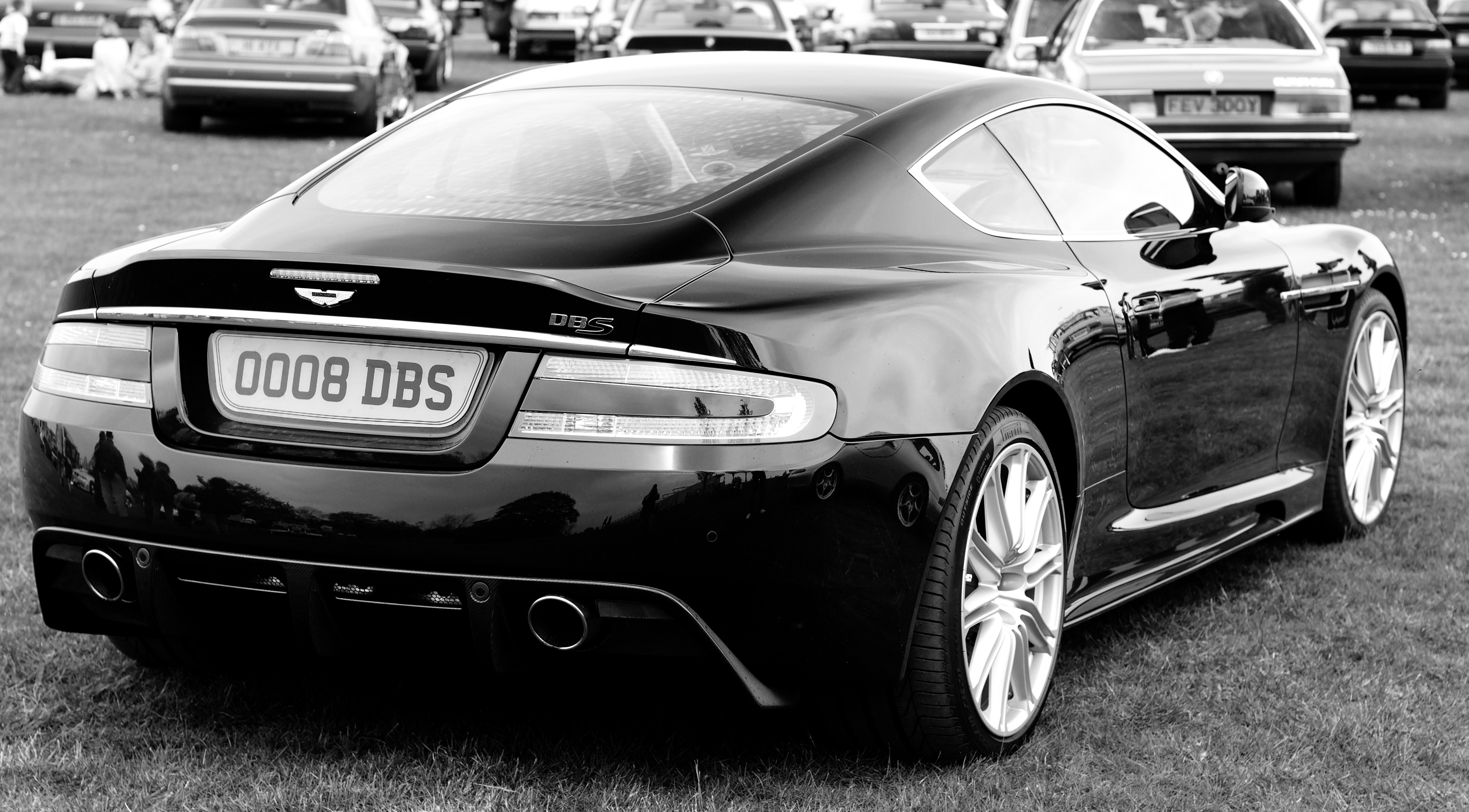 file:aston martin dbs v12 coupé (rear) b-w - wikimedia commons
