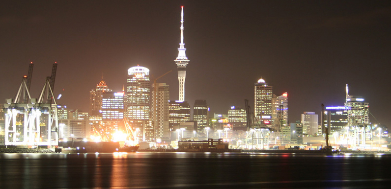 Auckland cityscape at night