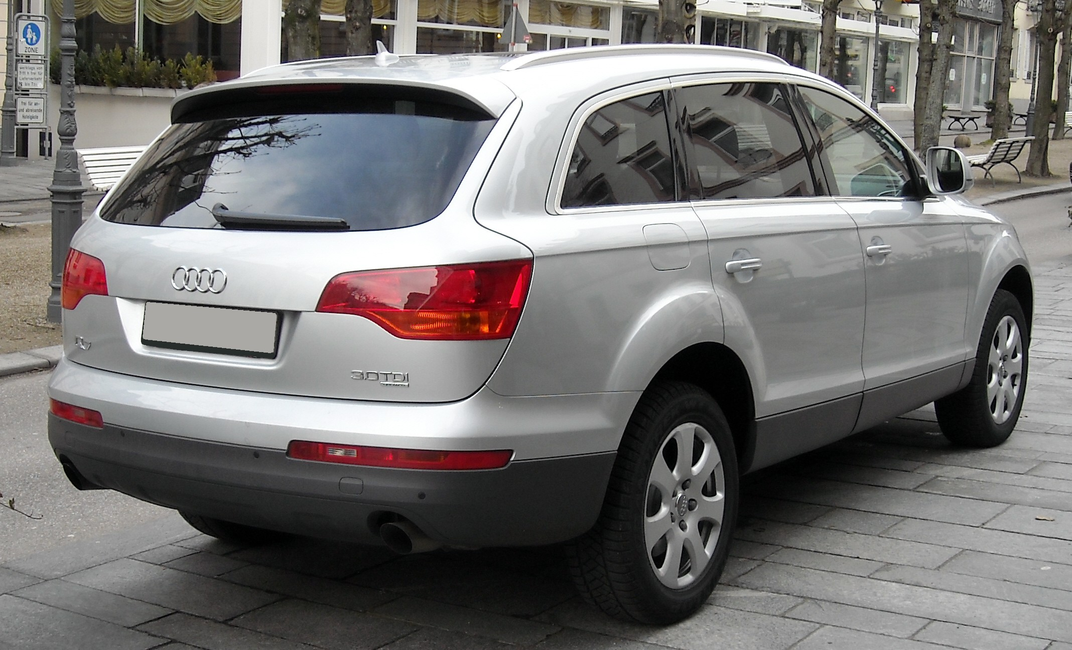 File Audi Q7 Rear 20080120 Jpg Wikimedia Commons