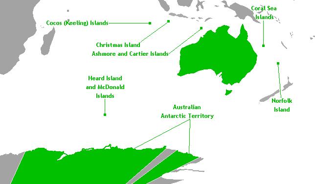 Die Australiese eksterne gebiede