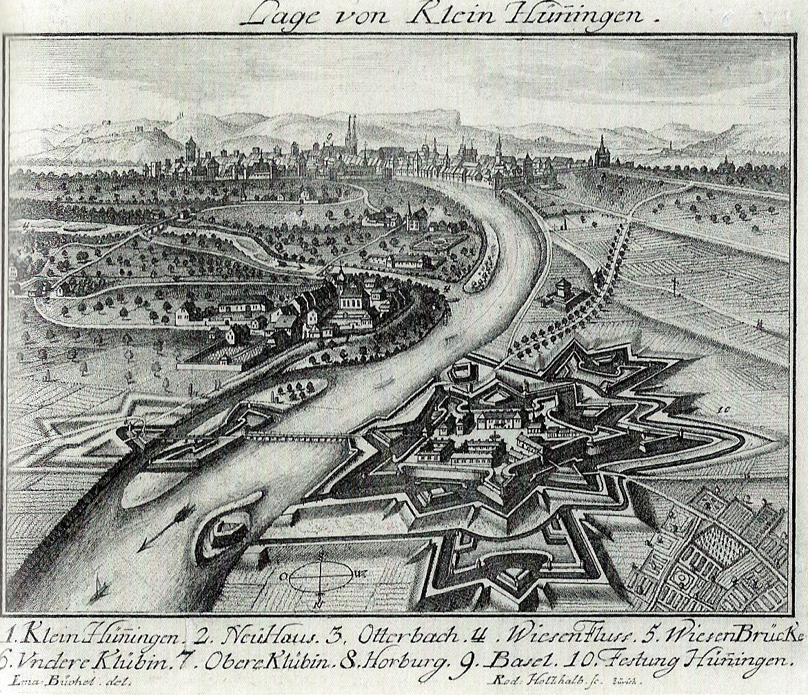 Klein Hüningen Dessin d'Emmanuel Büchel 1749 - photo: suivez le lien