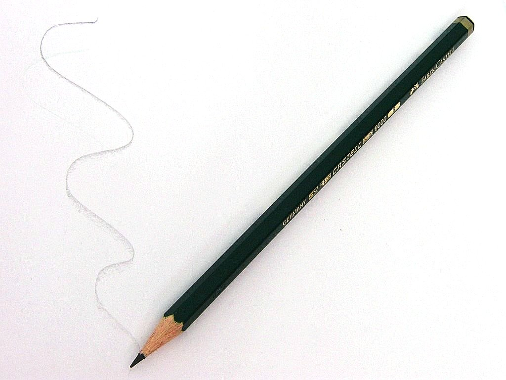 Schriftmuster eines Bleistifts