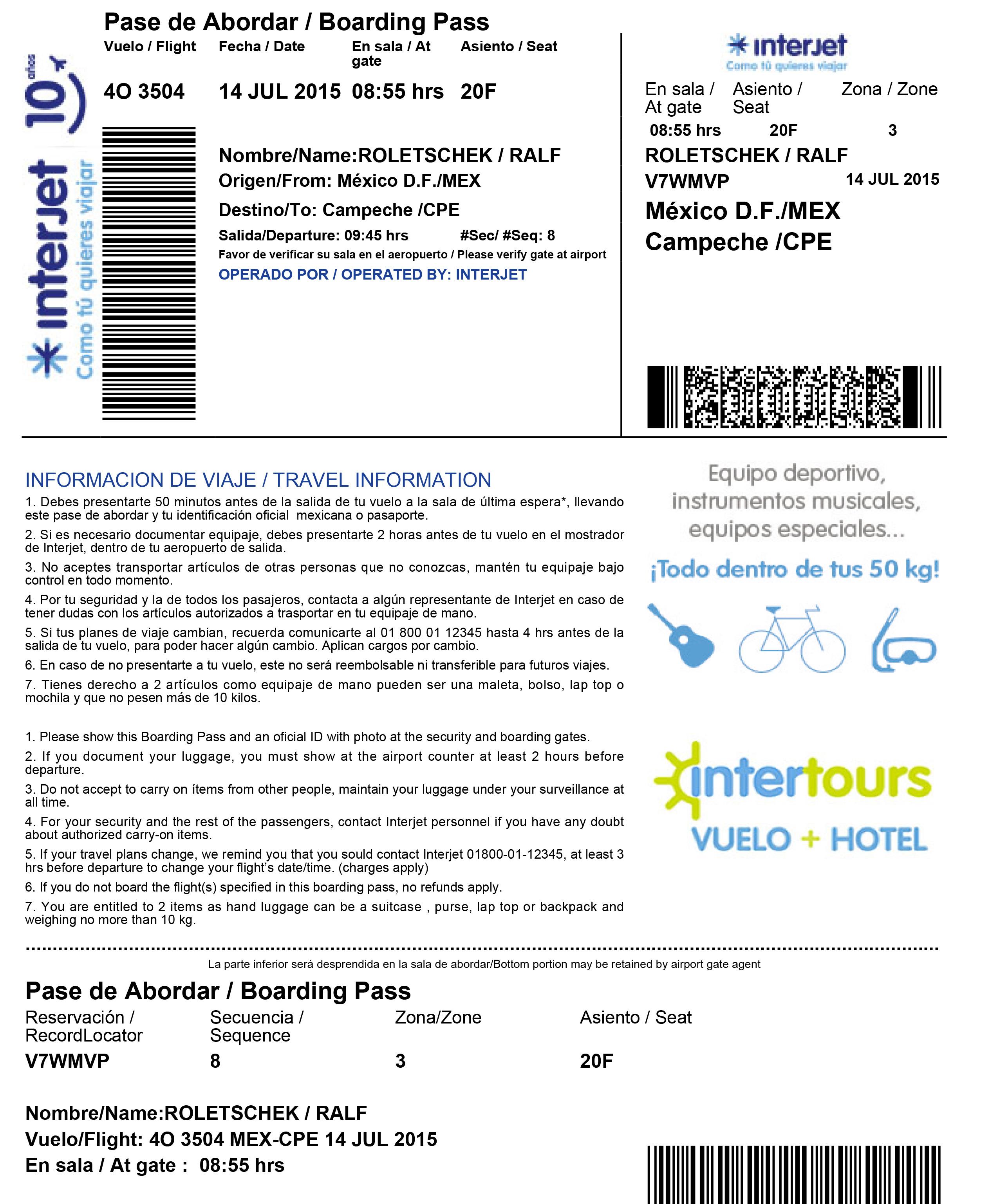 Imprimir Pase De Abordar Interjet Wwwmiifotoscom