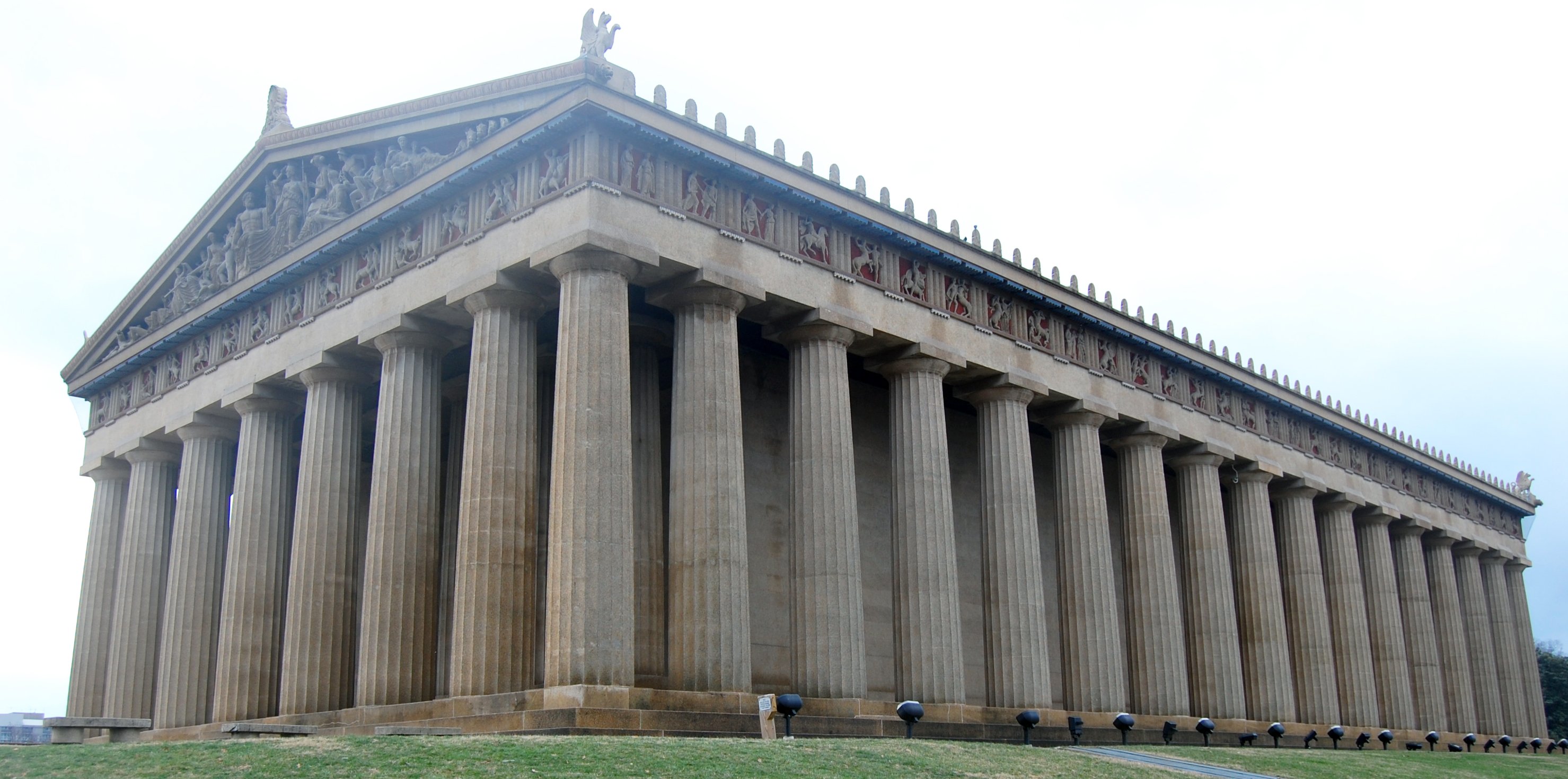 Interior Pillars File Corner Of Parthenon In Nashville Tn Us Jpg