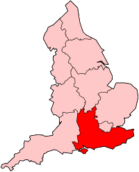 Poziția localității South East England