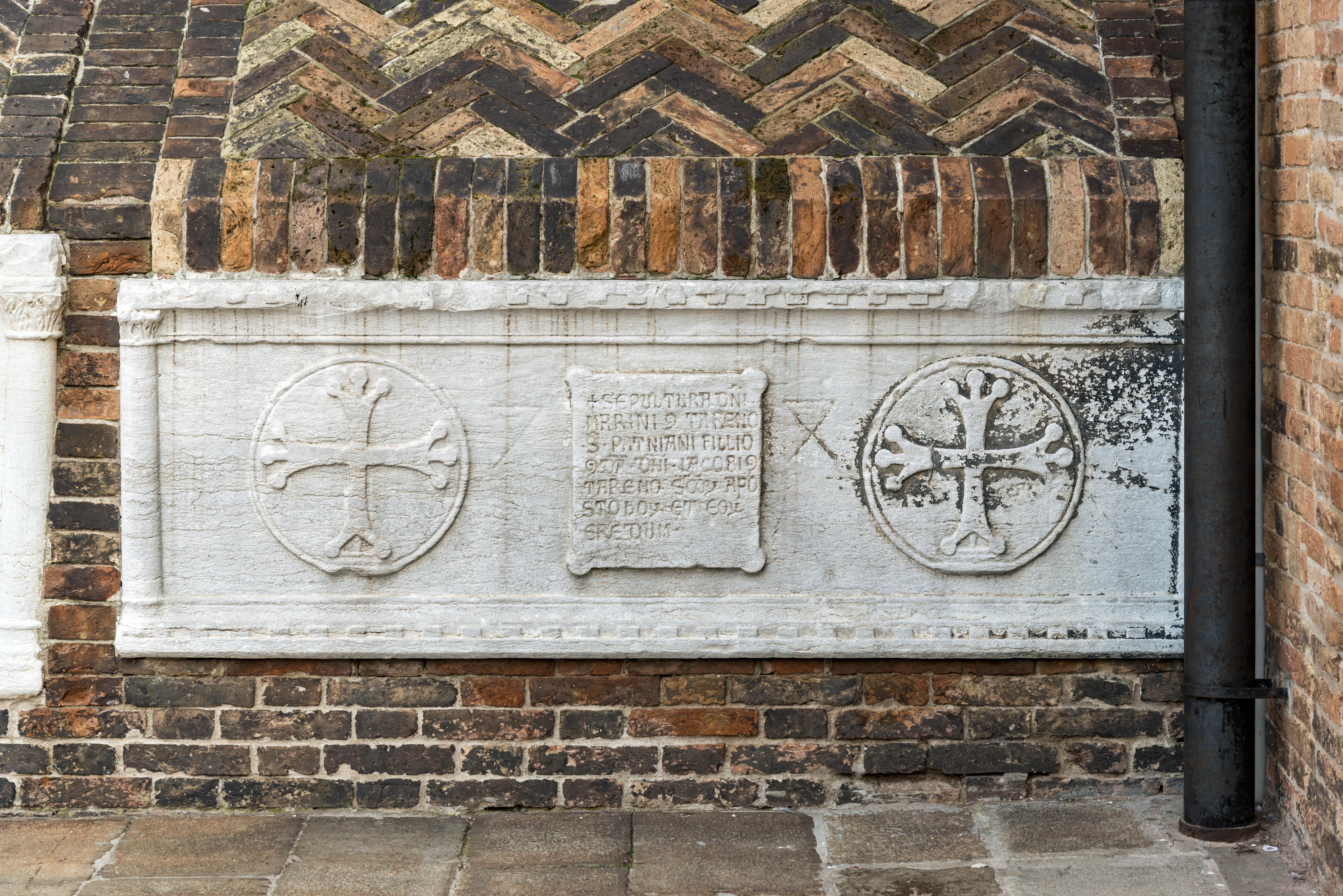 Exterior of Santi Giovanni e Paolo (Venice) - Tomb of Marino Contarini.