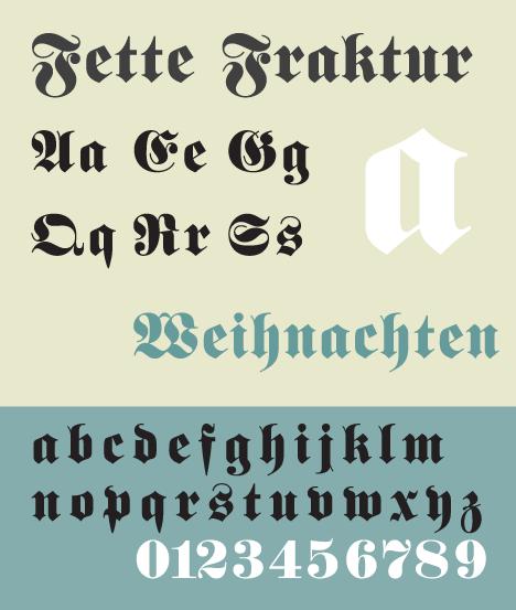 Fette Fraktur, a blackletter typeface