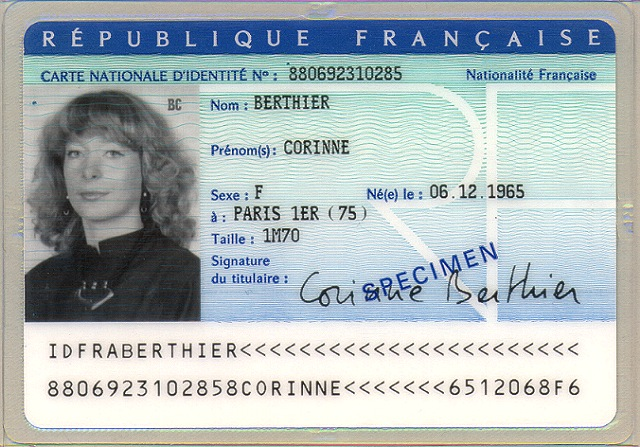 carte d identité photo National identity card (France)   Wikipedia