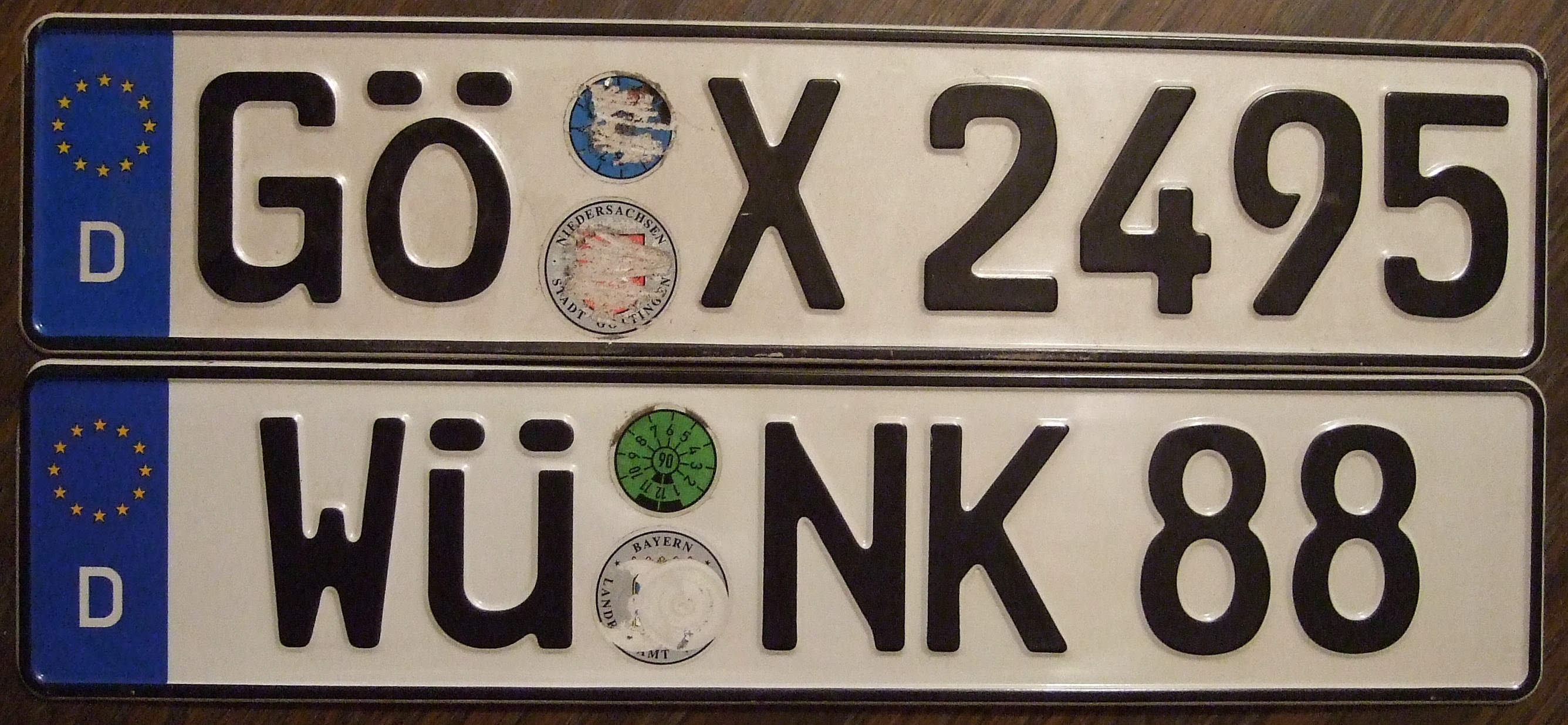 File Germany License Plates With German Letters Flickr