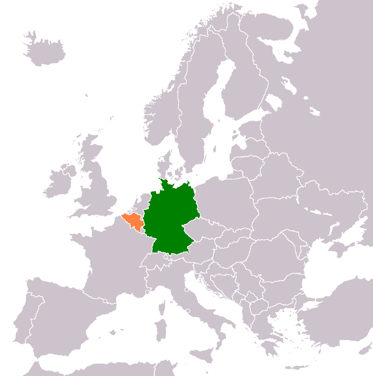 Belgium–Germany relations - Wikipedia on heligoland germany map, bismarck germany map, saale germany map, greece germany map, hohenzollern germany map, spa germany map, unesco germany map, argentina germany map, finland germany map, east prussia germany map, world war one germany map, ardennes germany map, ghent germany map, alps germany map, frisian islands germany map, algeria germany map, ems germany map, lithuania germany map, romania germany map, soviet germany map,