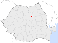 Location of Gheorgheni