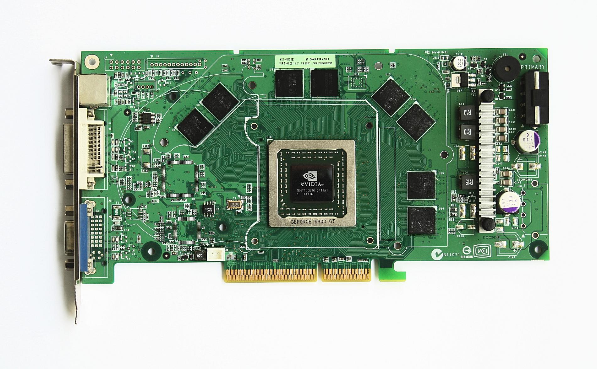 How To Build >> File:Grafikkarte NVidia 6800GT ohne Kuehlkoerper.jpg