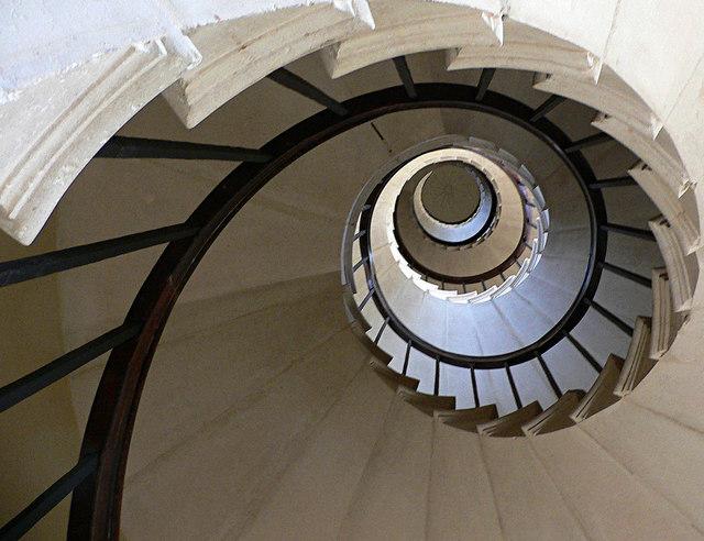 Haldon Belvedere's spiral staircase
