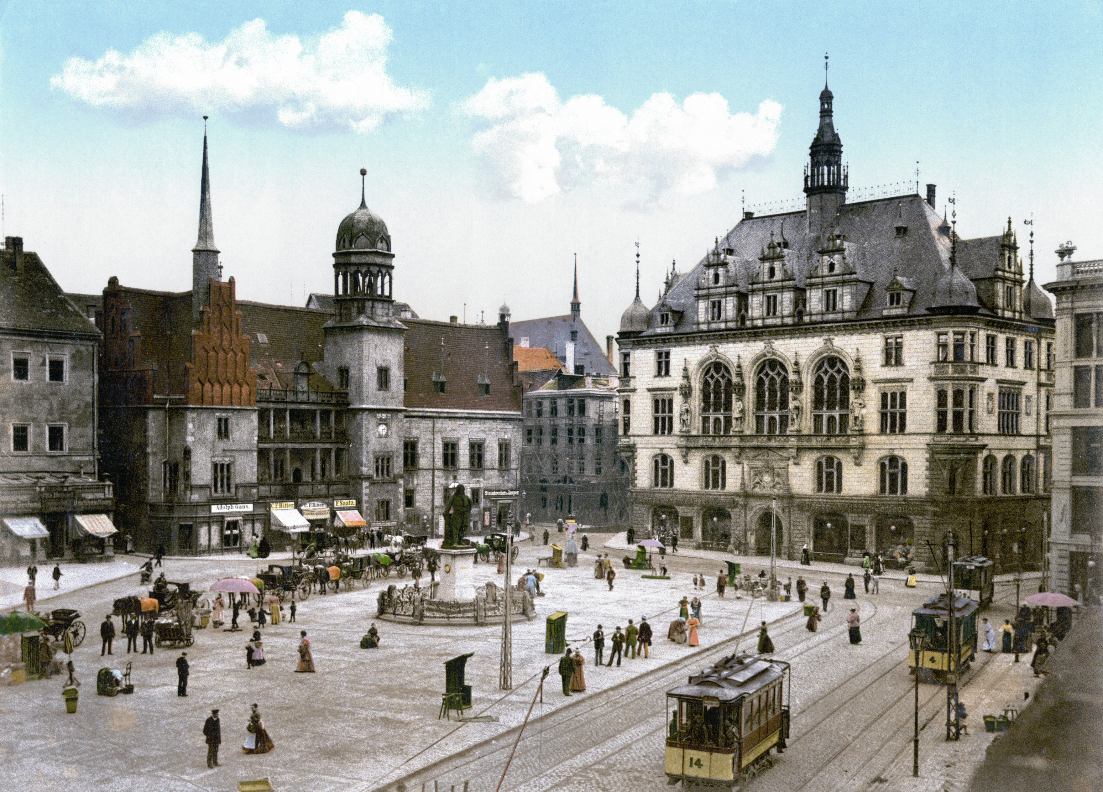 Halle an der Saale Germany  city images : Datei:Halle Saale Marktplatz 1900 – Wikipedia