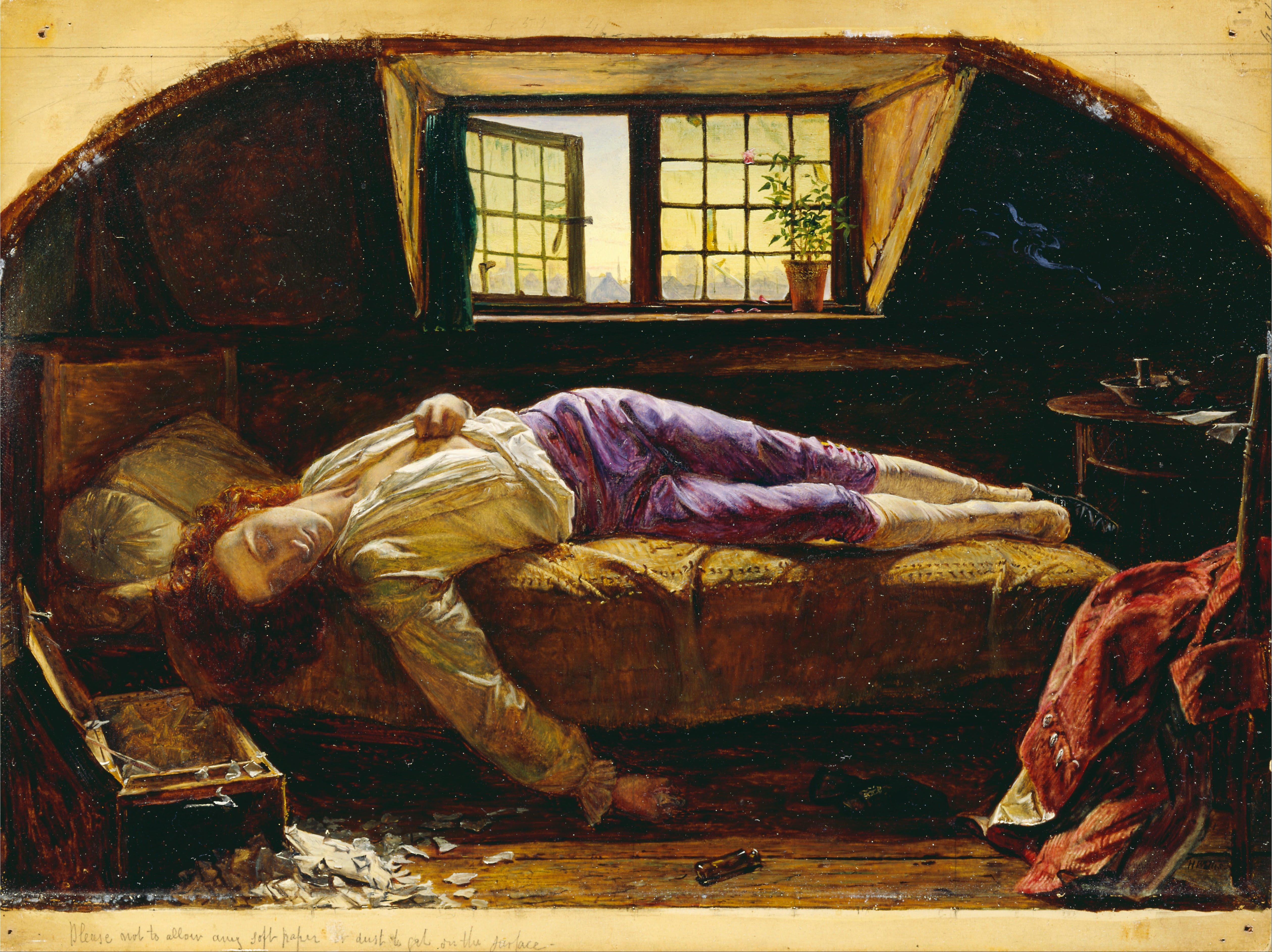 To walk invisible, un biopic des soeurs Brontë pour la BBC - Page 6 Henry_Wallis_-_The_Death_of_Chatterton_-_Google_Art_Project