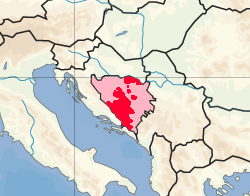 Location of Republik Herzeg-Bosnia Croatia