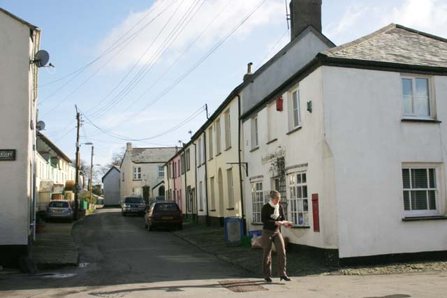 File:High Bickington High Street and Post Office - geograph.org.uk - 338211.jpg