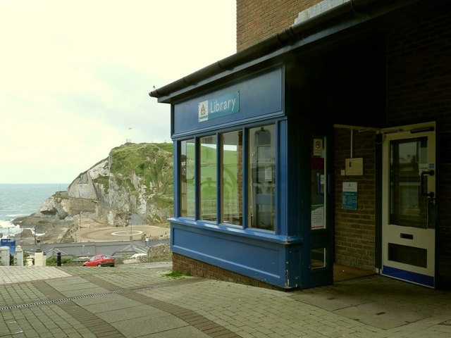File:Ilfracombe library at The Candar looking towards The Bristol Channel - geograph.org.uk - 1479711.jpg