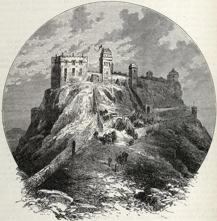 Description Impression of Edinburgh Castle before the 'Lang Siege' of ...