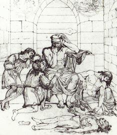 Inf. 33 Joseph Anton Kock, Ugolino con i figli nella torre della fame,