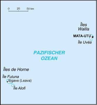 Karte Wallis und Futuna