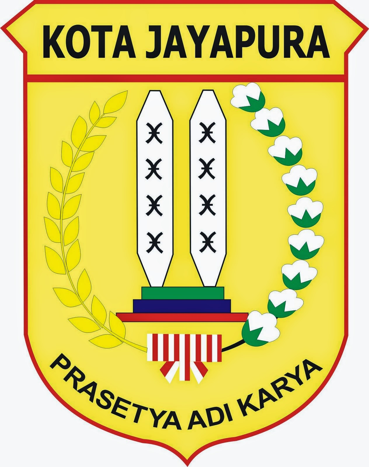 Coat of Arms (Lambang) of City (Kota) Jayapura...