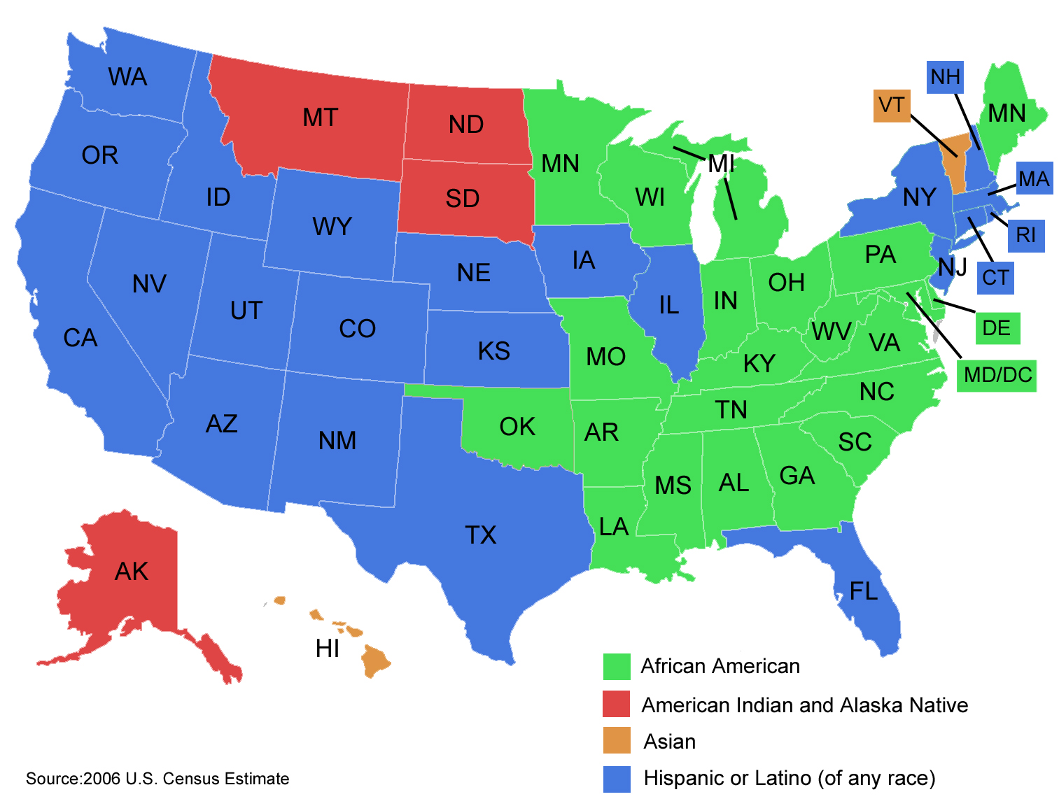Filelargest Minority Groups In The Us By Statejpg Wikimedia Commons - Map-of-minorities-in-us