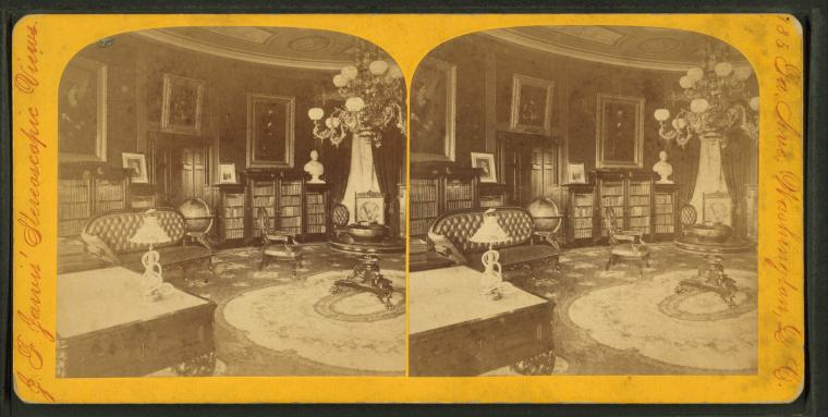 File library in white house by jarvis j f john f b 1850 wikimedia commons - Photo of houses ...