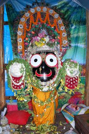 The Statue of Lord Jagannath of Tarbha shot during Rath Yatra. Lord Jagannath of Tarbha.jpg