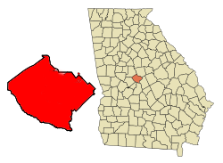 Location in Bibb county in the state of Georgia