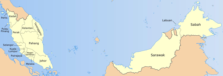 Penjelasan dan peta pembagian administratif negara Malaysia