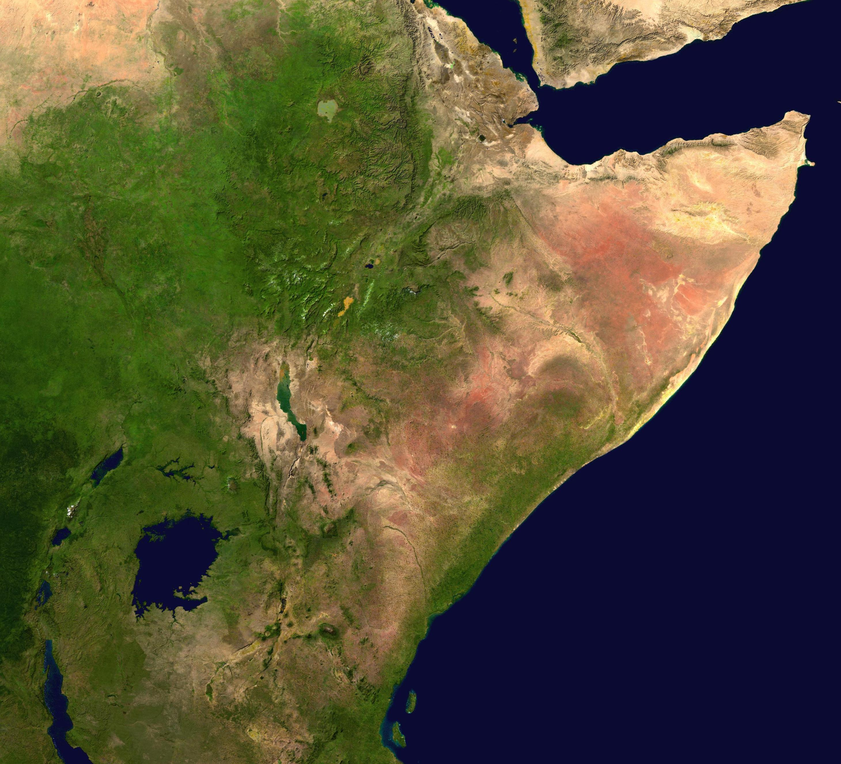 The Horn of Africa NASA image Horn