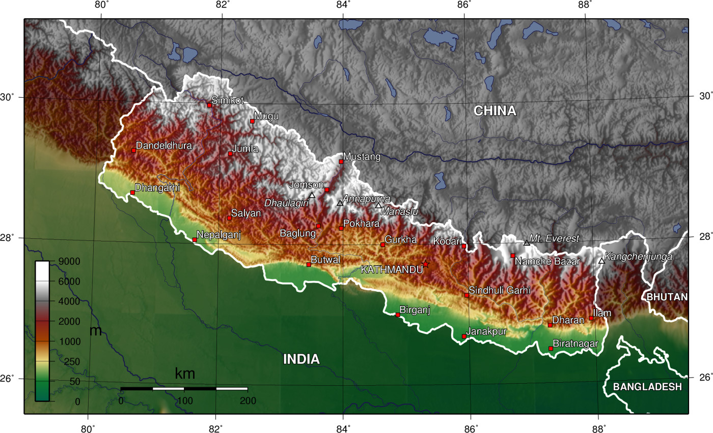 Nepal Karte Download.Geography Of Nepal Wikipedia