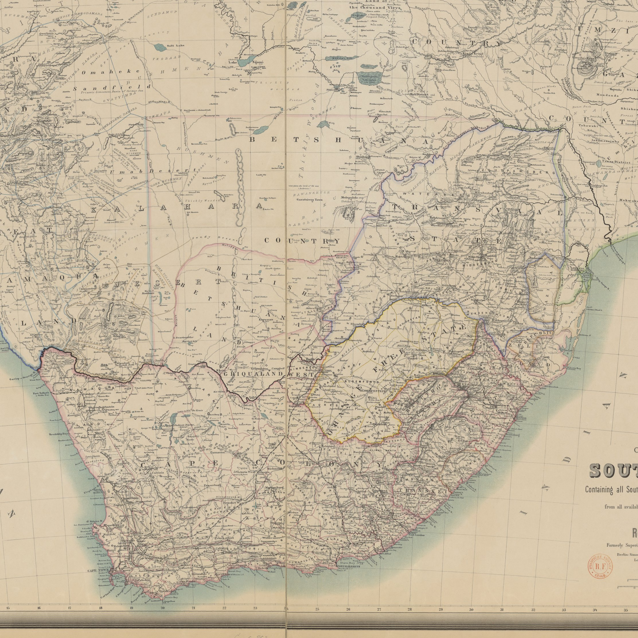 South Africa Colonial All South African Colonies